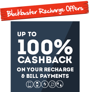 Get 100% Cash-Back on Next Mobikwik Recharge, Bill pay, DTH or Utility Transaction (Maximum Rs.100 cashback will be offered)